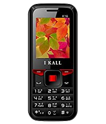 I KALL K16 1.8 Inch Dual Sim Basic Feature Mobile Phone With Bluetooth, 1000 mah Battery capacity, Torch Light , GPRS, and 1 YEAR MANUFACTURER WARRANTY- Red