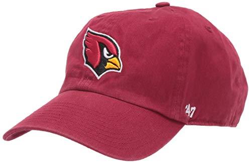 NFL '47reinigen bis Verstellbarer Hat, eine Größe passend für alle, Damen Herren, dunkelrot