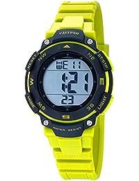 Calypso Watches Damen Armbanduhr Digitaluhr mit 2. Zeitzone Schwarz/Gelb K5669/1