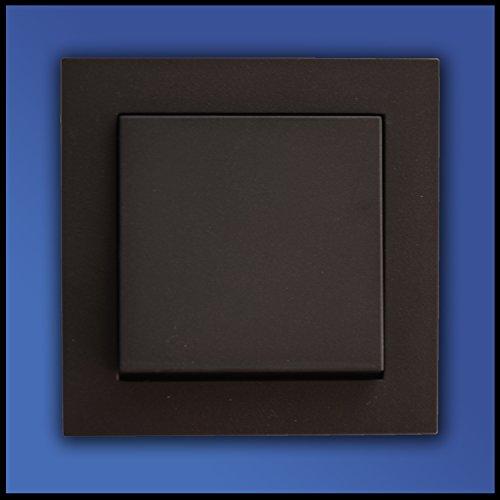 Preisvergleich Produktbild GIRA Komplett Set Wippschalter 1fach - Farbe/Form (Standard 55/E2) wählbar - Einsatz 010600 + Abdeckung 029628 + Rahmen 021123