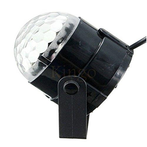 GHKL Sprachsteuerung LED-Bühnen Lampen Magic Ball Sound Control Laser Bühneneffekt Light Party Disco Club DJ Light (Cookie-projektor)