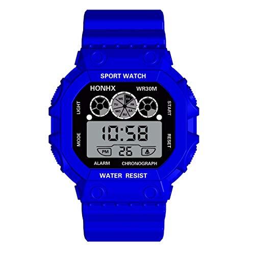 de-Luxus-drei Augen-Analog-Digital-Sport-LED wasserdichte leuchtende Armbanduhr ()