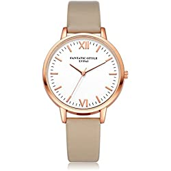 Sunnywill LVPAI Frauen Mädchen Damen Schöne Mode Design Retro PU Leder Band Armbanduhr für Weibliche