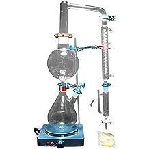 Nuevo Laboratorio 2000ml Aceite Esencial Steam Destilación Awareware Glass Kits Purificador de Agua Destilador w /