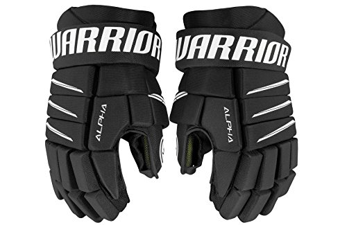 Warrior Junior Alpha QX5 Handschuhe, QX5 Junior Glove BK Black 12, Schwarz, Größe 12