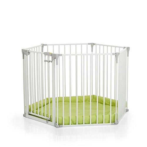 Hauck Baby Park - Parque infantil con colchoneta lima, Blanco, 366 x 115 x 75 cm