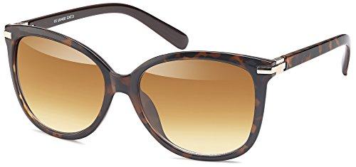 DIVA Sonnenbrille in Schmetterlingsform und mit goldenen Beschlägenfür Damen (demi braun)