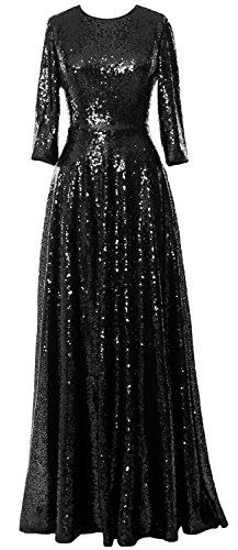 macloth-women-3-4-sleeve-sequin-evening-gown-vintage-mother-of-the-bride-dress-eu38-negro