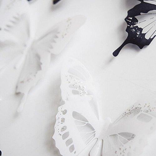 Hqdeal adesivi murali farfalla 3d vivido rimovibile per camera da ...