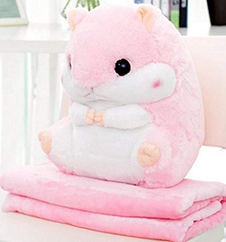 upupupup Plüschtiere 2 in 1 niedlichem Hamster-Kissen-super lustiges süßes Geschenk für männliche und weibliche Freunde 50X30Cm @ Pulver (Männliche Pulver)