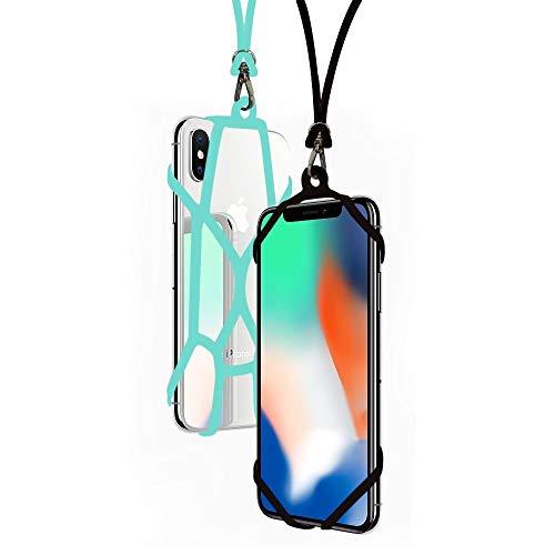 SeOSTO 2pcs Handy Lanyard Case Strap Universal Handy Sling Umhängeband Silikon Halterung Schutzhülle mit für iPhone XS/Xs Max/XR/X/8 Plus/8/7 Plus/7/6S Plus/6S Samsung Galaxy S8/OnePlus 5/5T (Beetle)