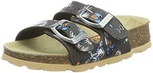 superfit Jungen Fussbettpantoffel_8-00111-00 Pantoffeln, Grau (Stone Multi 07), 35 EU