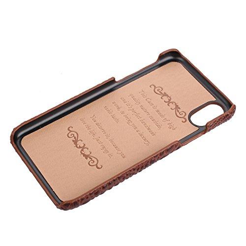 iPhone 6/6S Plus cas, Fashion Texture Crocodile + Cuir Véritable+Ultra-mince PC Shell,Convient pour iPhone 6/6S Plus (Noir) Blu