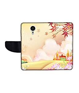 KolorEdge Printed Flip Cover For Gionee Elife E7 -Multicolor (55KeMLogo11324GioneeE7)