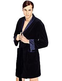 Manner Luxus Anspruchsvolle, Kurz Baumwolle Morgenmantel