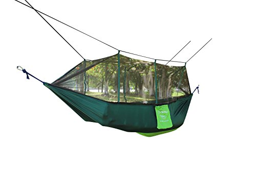 firstwish Outdoor Moskitonetz Hängematte tragbar Fliegennetz für 2Personen Camping Hängematte Zelt Insektenschutz Picknick Matte