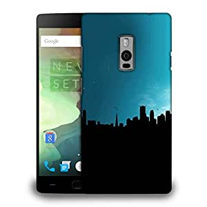 Snoogg Black Building Printed Protective Phone Back Case Cover Fpr OnePlus One / 1+1