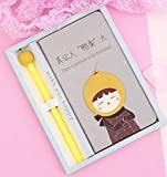 Cartoon Notepad Mini Notebook Set di penne per notebook (Pera) per studente
