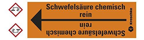LEMAX® Rohrleitungsband Schwefelsäure chem.rein,praxisbewährt,ab Ø10mm,orange/schwarz,33m/Rolle (Chem-schild)