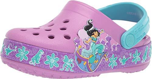 crocs Unisex-Kinder Crocsfl Jasmine Band K Clogs, Violett (Violet 508.), 27/28 EU (Disney Jasmine Schuhe)