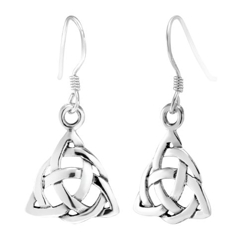 sterling-silver-celtic-triquetra-knot-triangle-drop-wire-earrings
