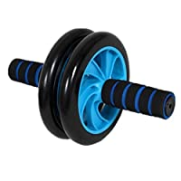 Ab Wheel Roller Abdominal Trainer with Knee mat (Blue)