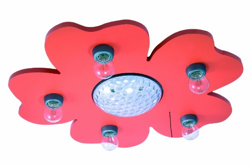 Niermann Standby LED Deckenleuchte Happy-Flower, orange 675