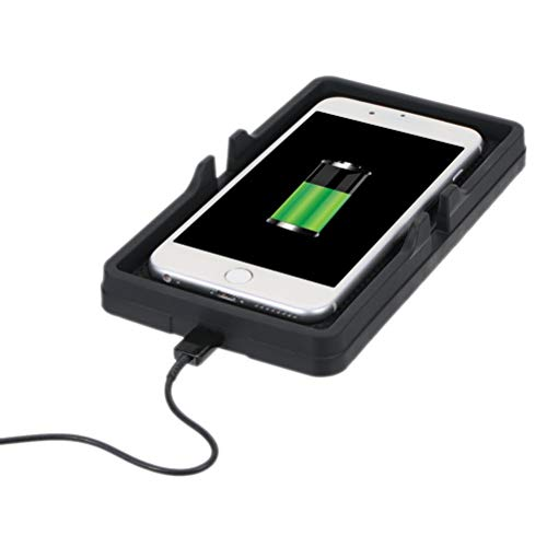UKCOCO 10W Fast Qi Caricatore Senza Fili Pad in Silicone, Supporto da Auto da Telefono Supporto Antiscivolo Pad di Ricarica per iPhone X / 8/8 Plus Galaxy Note 9/8/5 S9 / S9 +