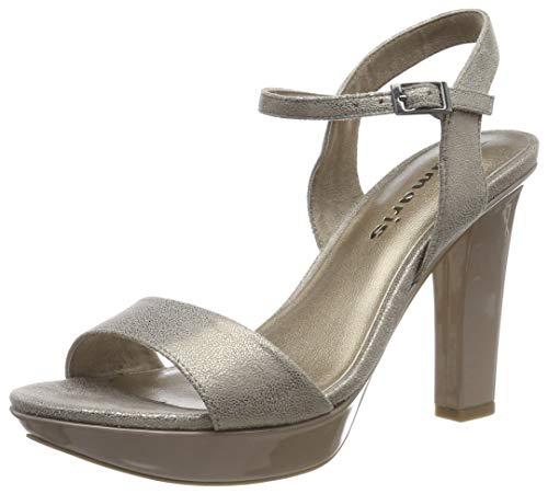 Tamaris 1-1-28398-22, Sandali con Cinturino alla Caviglia Donna, Oro (Platinum Comb 937), 38 EU