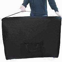 Vivezen ® Housse de transport noire à roulettes pour table de massage - Norme CE