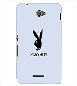 PrintDhaba Playboy D-5601 Back Case Cover for SONY XPERIA E4 (Multi-Coloured)