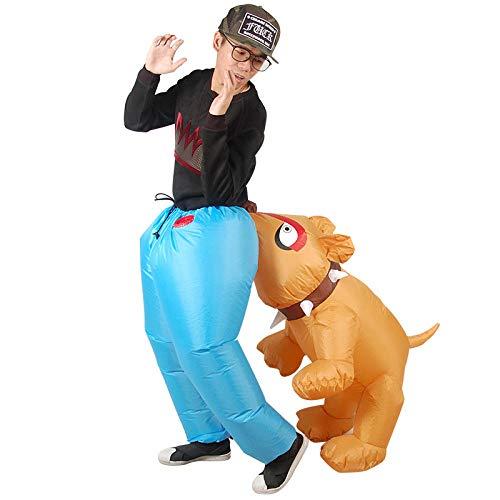 Traje Hinchable, Disfraz de Disfraz de Animal Adulto, Perro Inflable, Disfraz de Perro, Pantalones con Espalda de Animal, Disfraz de Halloween