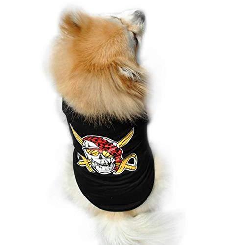 Hawkimin Haustier Weste Modischer und Cool Somme Baumwolle Welpen Kleiner Hundekatze Kleidungs T-Shirt Kleid Puppy Kostüm Chihuahua - Regendicht Kostüm