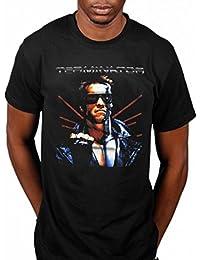 Oficial de manga corta Terminator Fin Póster de película Arnold Schwarzenegger acción
