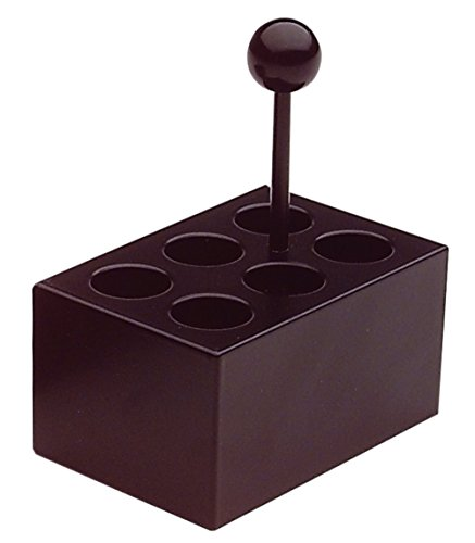neoLab 2-2509 Heizblock Alu, 6 Vertiefungen 20 mm Durchmesser für Reagenzgläser
