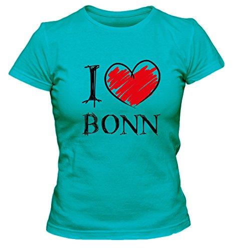 I love Bochum FUN Damen T-Shirt, Größe:XL;Farbe:türkis
