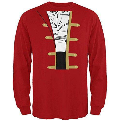 irat Kostüm Männer Mens Long Sleeve T-Shirt Rot X-LG (Spanische Man Kostüme)