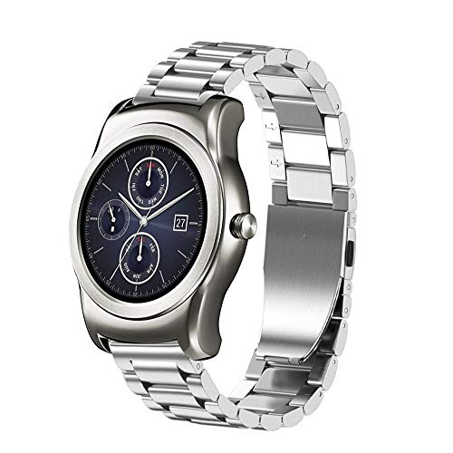 Ukloving 20MM Milanese Magnetic Loop Stainless Steel Smart Watch Band for LG Watch Urbane W150 , High Quality Stainless Steel Strap Watches for Women Stainless Steel Strap Watches for Men