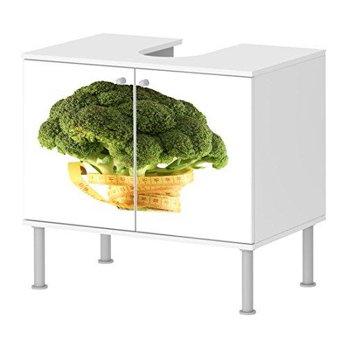Badunterschrank Badezimmer Speisen Gemüse Gesund Maßband schönes Design schick NEU 100BADU2925