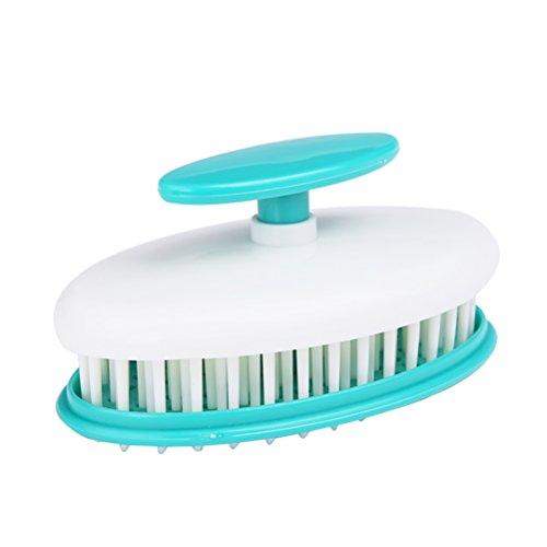 Rückenmassagen (PIXNOR Kopfmassage Haarbürste Duschbürste Handmassagegeräte (Grün))