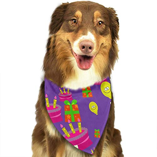 Osmykqe Dog Bandana Pet Scarf Cake Ballon Classic Cute Pet Puppy Dog Bandana Scarf Bibs