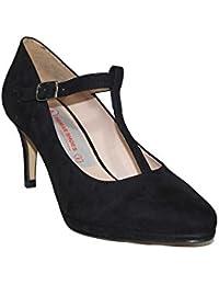 4e272387d1d0a PRIMAR SHOES - Zapato TACÓN Fiesta Carla PS128 Zapatos Tacón Medio Fiesta  Elegantes Casuales Moda 2018 Mujer Tacón Burdeos Negro…