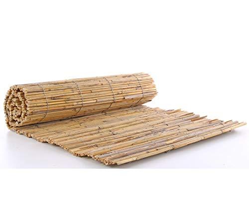 bambus-discount.com Bastelmatte Schilfrohr 40 x 100cm Baumschutzmatte Verkleidung Pflanztöpfe - Sichtschutz Balkon Terasse Garten Sicht Schutz Sonnenschutz Windschutz Sichtschutzmatten