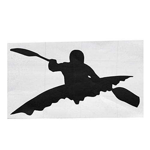 Jili online vinile adesivo per kayak pagaia per kayak canoa canotto barca da pesca da muro per notebook phone auto camion nuovo nero sticker
