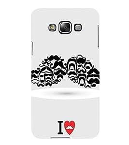 Fuson Designer Back Case Cover for Samsung Galaxy E5 (2015) :: Samsung Galaxy E5 Duos :: Samsung Galaxy E5 E500F E500H E500Hq E500M E500F/Ds E500H/Ds E500M/Ds (moustache Stylish Beard no Shave Love Moustache)