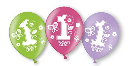 amscan Sweet Mädchen ersten Geburtstag Latex Luftballons -