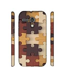 NattyCase Puzzle Pattern Design 3D Printed Hard Back Case Cover for Motorola Moto G 1st Generation