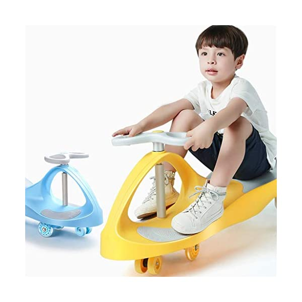 Twist car Swing car Children Universal Wheel Yo Car 1-3-6 Years Old Silent Wheel Swing Car Baby Toy Scooter FANJIANI (color : Blue) Twist car ▶Tip: The delivery time of the product is 8-15 days, If you have any questions, please feel free to contact us ▶Environmental PP material, non-toxic, no odor, corrosion resistance, high temperature resistance, anti-drop, shockproof, baby play more assured ▶ Let the baby stimulate the left and right brains by grasping the grasp, promote the development of the cerebellum, support the lower body strength of the legs, maintain the stability of the body's center of gravity, and exercise the balance of the baby. 6