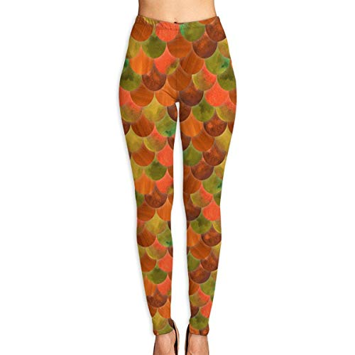 VAICR NCRSPIC Strumpfhosen Hosen,Personalized Bright Mermaid Scale Women's Printed Leggings Pants For Sports Yoga Workout Gym Running -