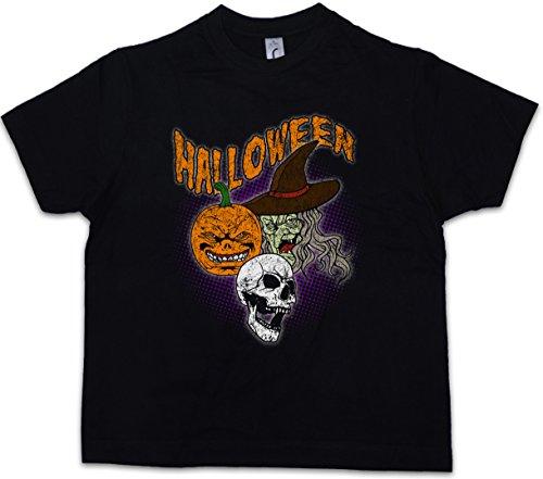 er T-Shirt (Halloween-kürbis-gesichter, Fotos)